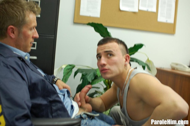 Uniform gay sex Parole Him young offender ass fucking gay porn video 04 photo - Rafeal Mendoza takes a 9 inch Parole Officer's cock - did he finally submit?