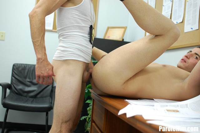 Uniform gay sex Parole Him young offender ass fucking gay porn video 07 photo - Rafeal Mendoza takes a 9 inch Parole Officer's cock - did he finally submit?