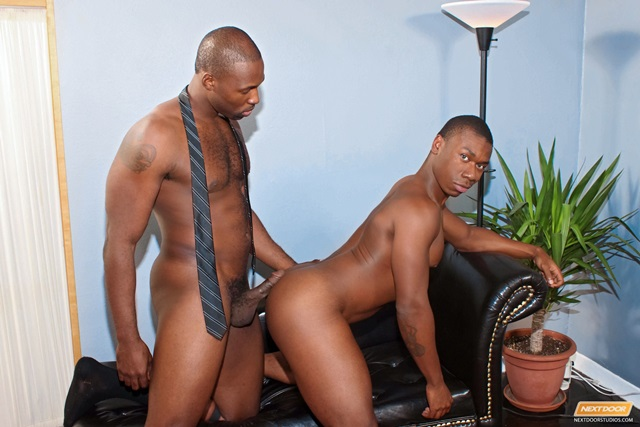 Nude american black african men