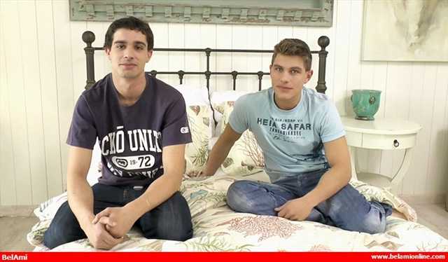Gay bareback big dick twinks Paul Valery and Roger Lambert at BelamiOnline