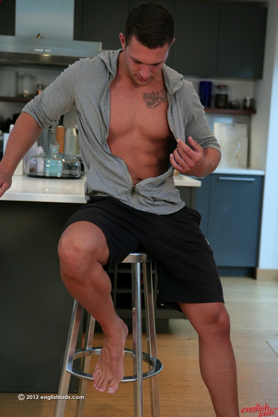 Straight personal trainer James Branson - Tall muscular tanned ripped & hung