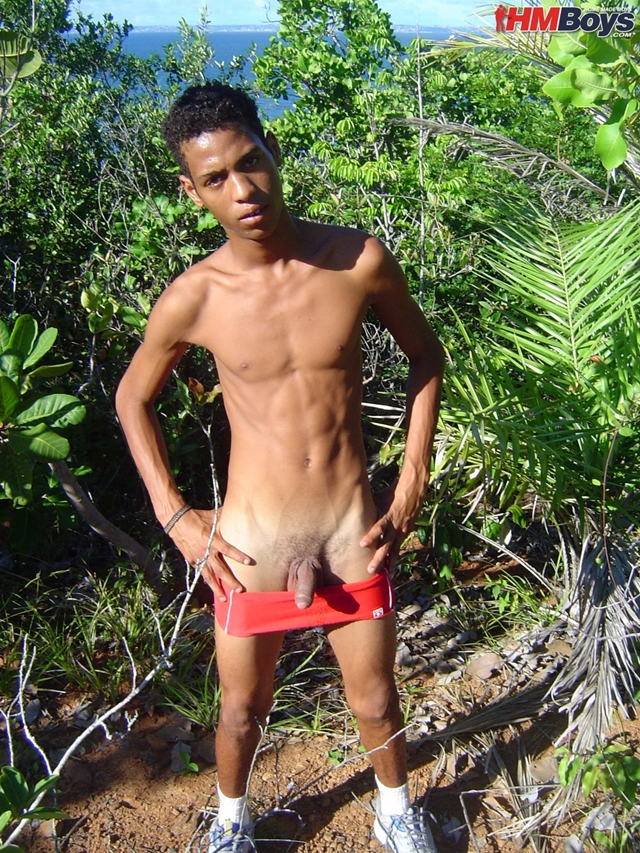 outdoors nude African boy