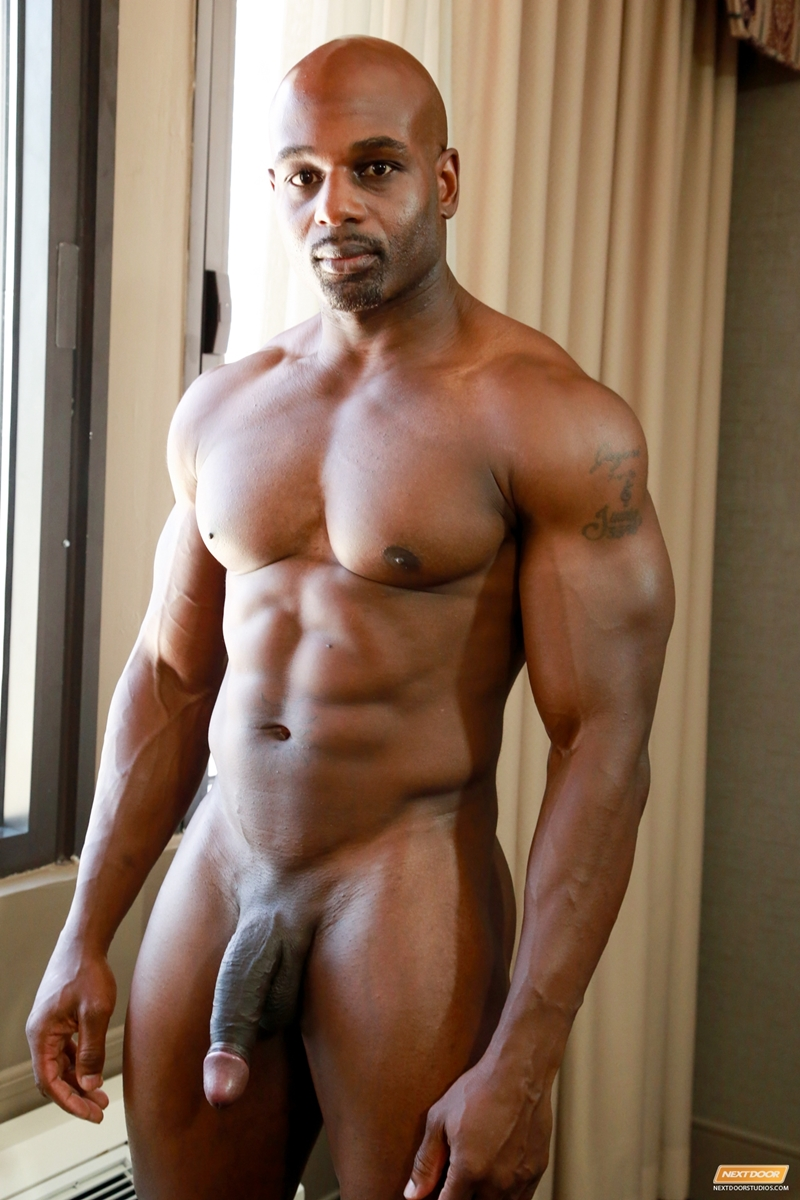 dick Black muscular big