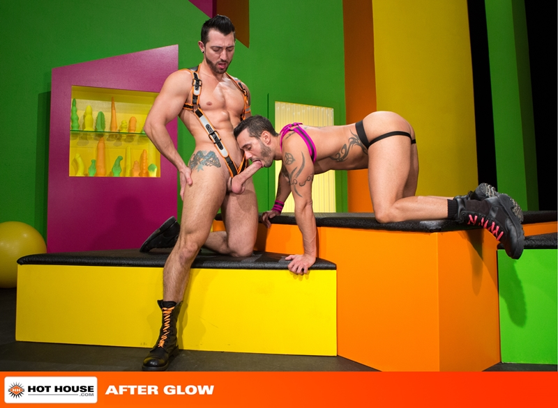 Hothouse Jimmy Durano rimming Alexy Tyler beard chin suck rock hard fucking muscular asses wad dick ass hot white load 001 tube video gay porn gallery sexpics photo - Alexy Tyler turns around to suck on Jimmy Durano's rock hard cock