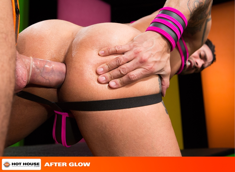 Hothouse Jimmy Durano rimming Alexy Tyler beard chin suck rock hard fucking muscular asses wad dick ass hot white load 012 tube video gay porn gallery sexpics photo - Alexy Tyler turns around to suck on Jimmy Durano's rock hard cock