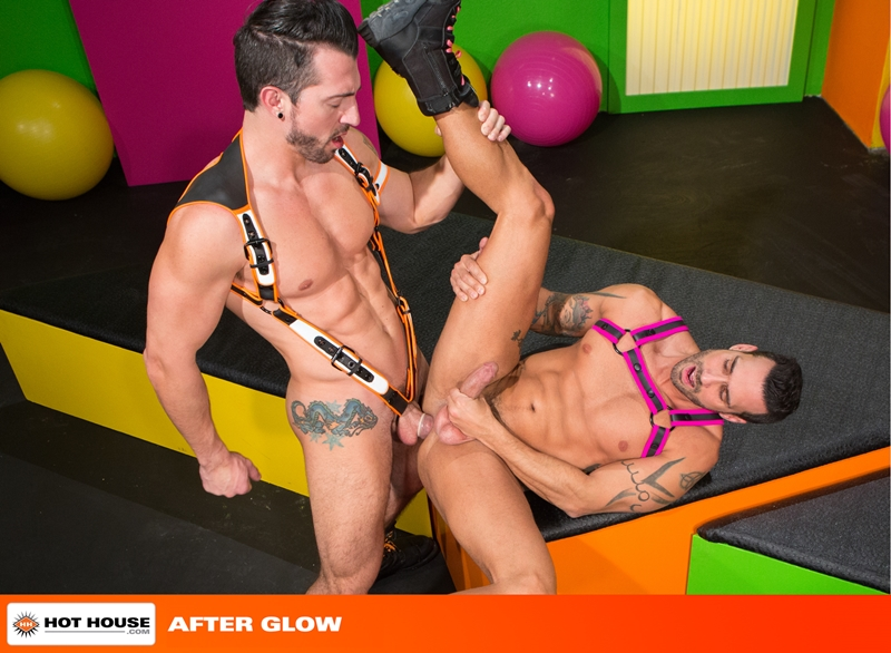 Hothouse Jimmy Durano rimming Alexy Tyler beard chin suck rock hard fucking muscular asses wad dick ass hot white load 015 tube video gay porn gallery sexpics photo - Alexy Tyler turns around to suck on Jimmy Durano's rock hard cock