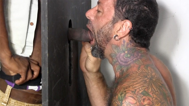 Glory hole penis men anal