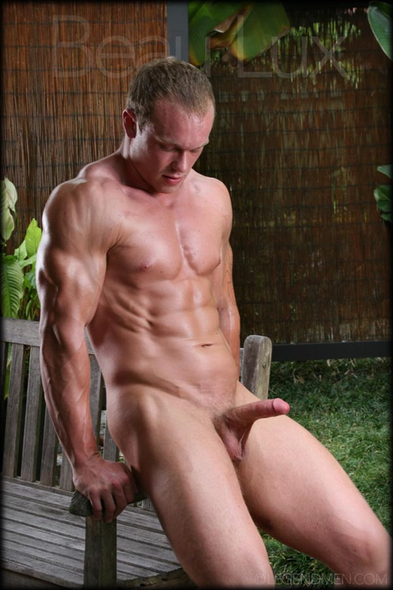 LegendMen Massive muscle hunk Beau Lux naked bodybuilder camouflage underwear thick cock shaved pubes wanks young muscle dude 04 gay porn star sex video gallery photo - Naked muscled hunk Beau Lux Legend Men's newest bodybuilder