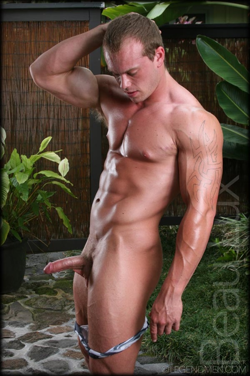 LegendMen Massive muscle hunk Beau Lux naked bodybuilder camouflage underwear thick cock shaved pubes wanks young muscle dude 07 gay porn star sex video gallery photo - Naked muscled hunk Beau Lux Legend Men's newest bodybuilder