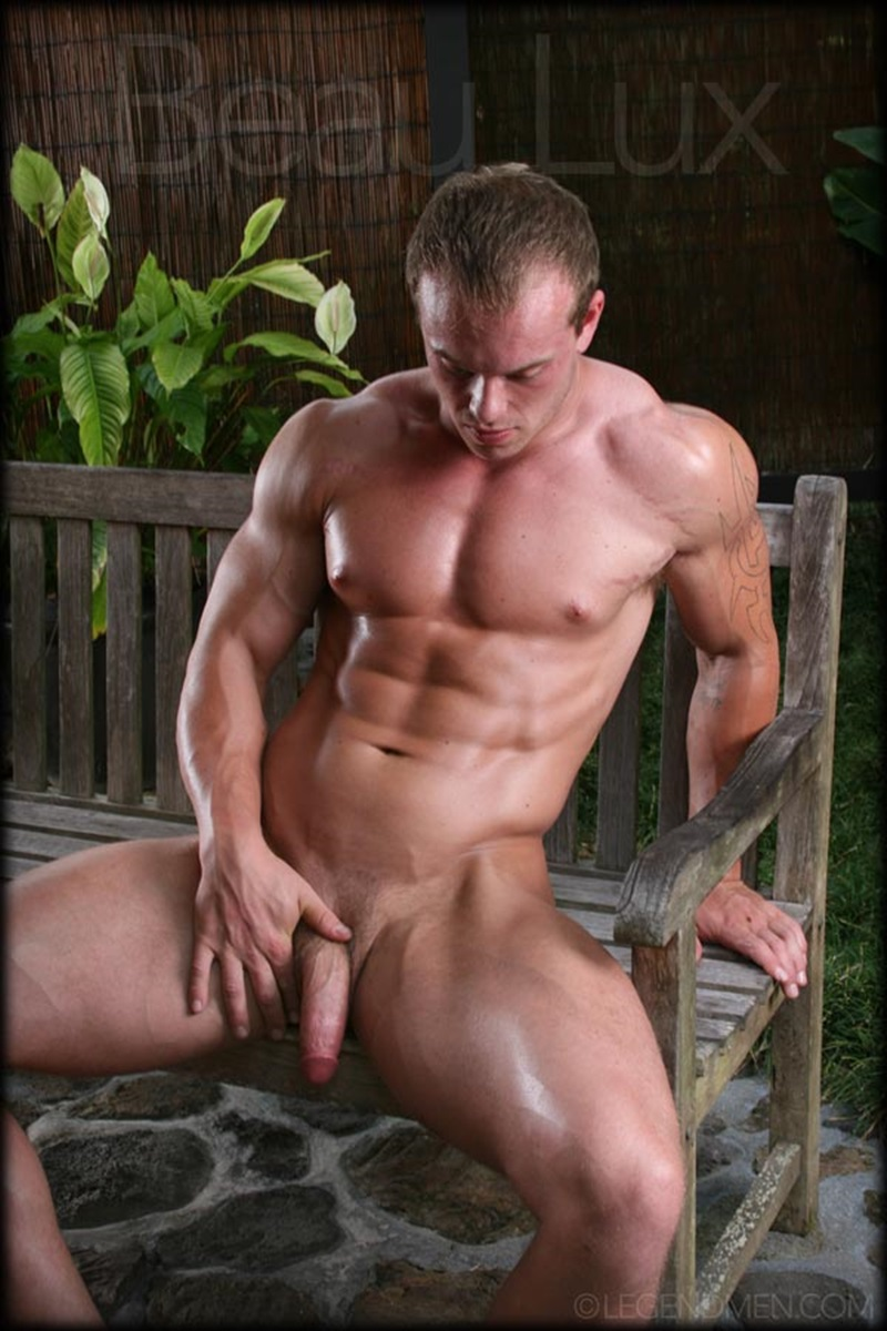 LegendMen Massive muscle hunk Beau Lux naked bodybuilder camouflage underwear thick cock shaved pubes wanks young muscle dude 11 gay porn star sex video gallery photo - Naked muscled hunk Beau Lux Legend Men's newest bodybuilder