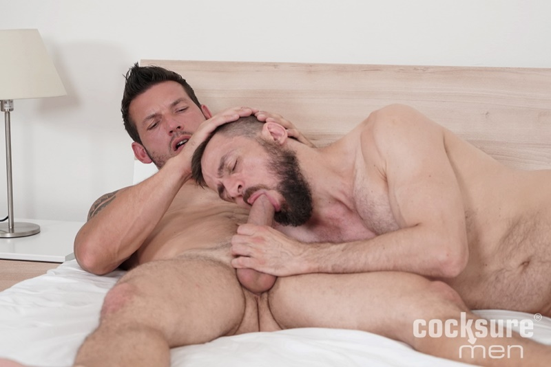Sexy muscle hunk Marek Tanker bareback anal fucking daddy Stan Simons' tight asshole