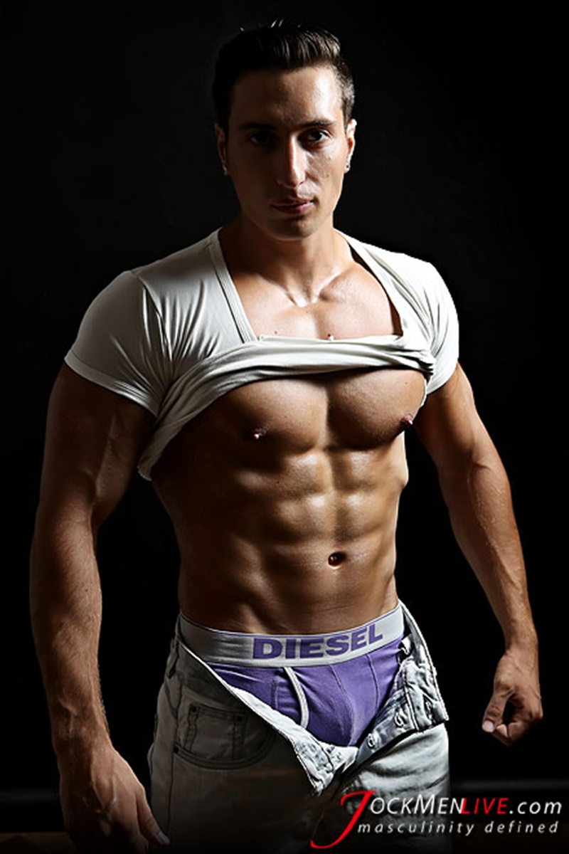 JockMenLive big muscle bodybuilder nude dudes Hot Nicholas huge massive muscled thick dick ripped six pack abs shredded 003 gay porn sex gallery pics video photo - Jock Men Live Hot Nicholas shows off his big muscled body that's why we love him