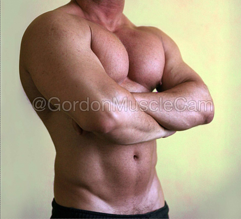 JockMenLive nude big muscle hunks Gordon Muscle jerking sweating posing pouch huge dick crotch bulge cumshot flexin muscled 007 gay porn sex gallery pics video photo - Jock Men Live Gordon Muscle masturbating and flexing his big muscle body
