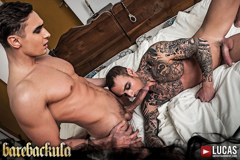 Alex Kof shows Dylan James how to ride his intimidating nine inch uncut dick