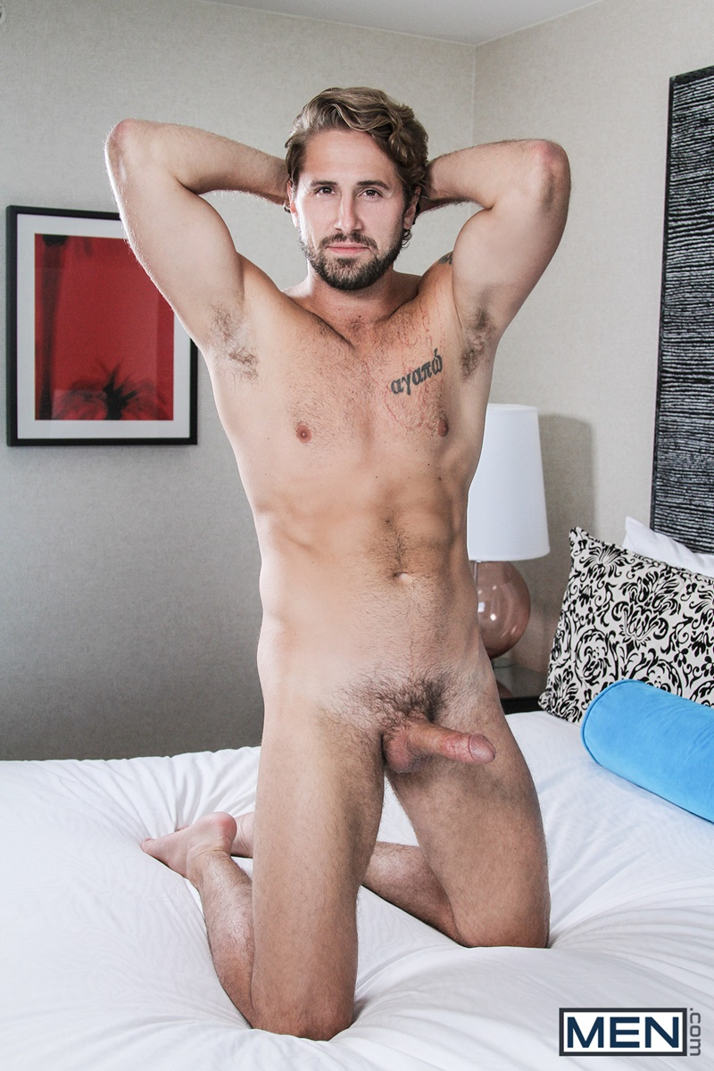 Men sexy naked young men Johnny Rapid fucks Wesley Woods tight asshole beard facial hair hairy chest tattoo ass rimming 007 gay porn sex gallery pics video photo - A hot finger fuck later and Johnny Rapid fucks Wesley Woods' tight ass full of his big cock