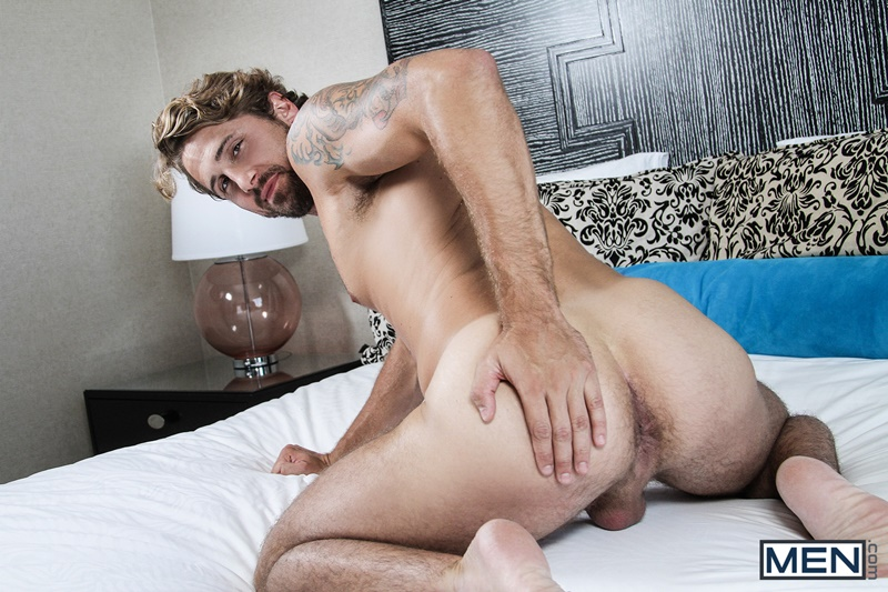 Men sexy naked young men Johnny Rapid fucks Wesley Woods tight asshole beard facial hair hairy chest tattoo ass rimming 008 gay porn sex gallery pics video photo - A hot finger fuck later and Johnny Rapid fucks Wesley Woods' tight ass full of his big cock