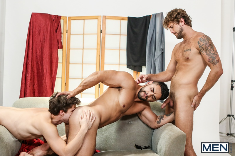 Hardcore ass fucking threesome with Wesley Woods, Will Braun and Arad Winwin