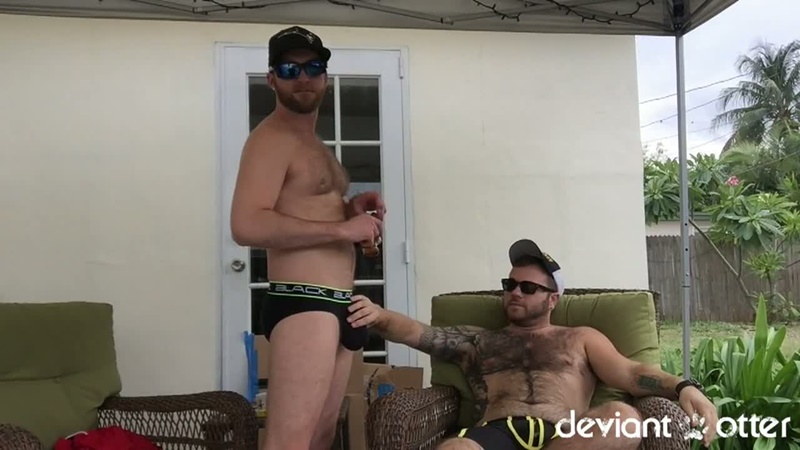 DeviantOtter sexy hairy chest young sub cub naked dude Devin Totter tattoo inked big large dick sucking cocksucker anal rimming 001 gay porn sex gallery pics video photo - Deviant Otter sub cub