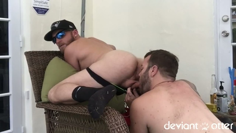 DeviantOtter sexy hairy chest young sub cub naked dude Devin Totter tattoo inked big large dick sucking cocksucker anal rimming 013 gay porn sex gallery pics video photo - Deviant Otter sub cub