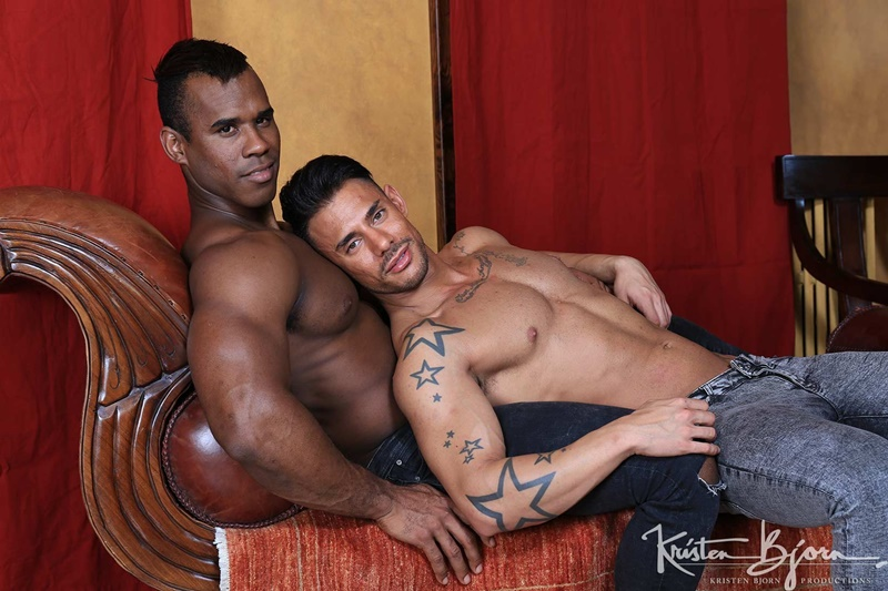 Ridder Rivera forces his huge fat cock against Sergyo's smooth bare ass hole