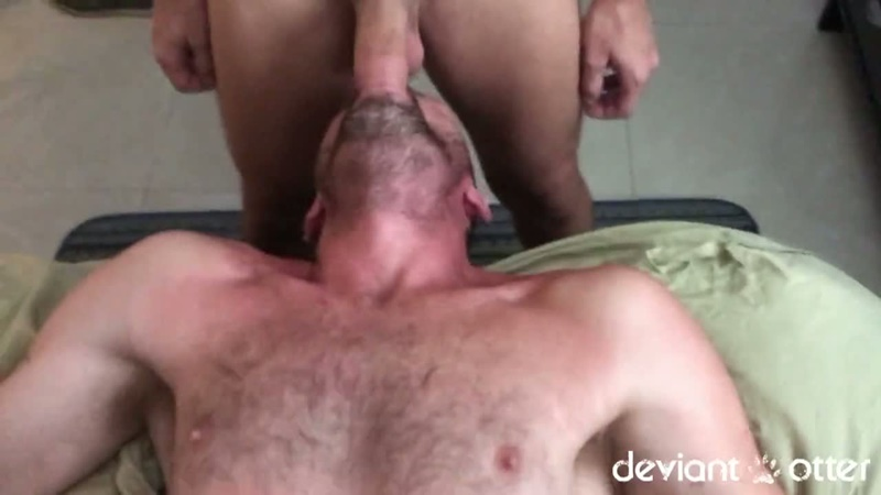 DeviantOtter Devin totter bearded young otter cub hairy chest daddy fucker tattoo 9 inch cock sucker anal rimming poppers 004 gay porn sex gallery pics video photo - Deviant Otter tattooed skater boy with a fat nine inch cock