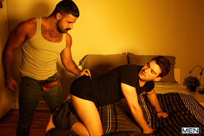 Dustin Holloway and Teddy Torres dick sucking, ass fucking and cum bursting orgy
