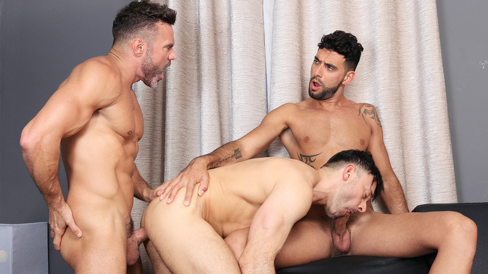 previewclip wides large - While Manuel Skye and Leonardo Lucatto 69 each other Mick Stallone tongue fucks Leonardo furry ass hole