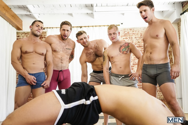 Wesley Woods, Arad Winwin, Jacob Peterson, Leon Lewis, Casey Jacks and Leo Luckett