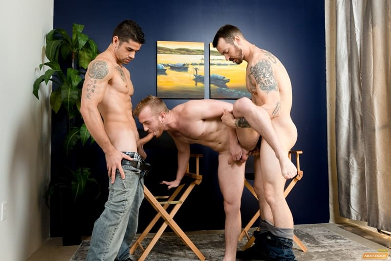 Hardcore ass fucking threesome with Mark Long, Archer Hart and Jason Richards
