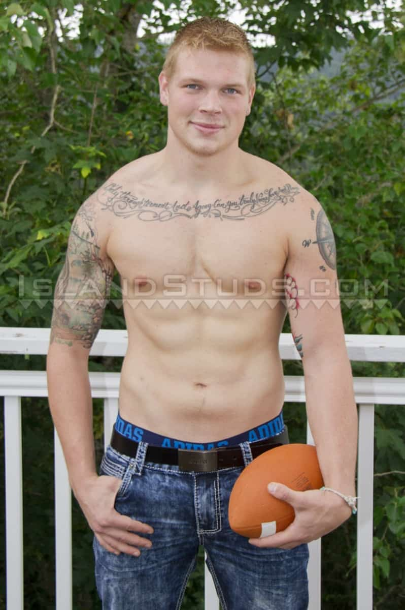 Cute 21 year old College Jock Parker is every students fantasy Football Player as he jerks his 9 inch cock