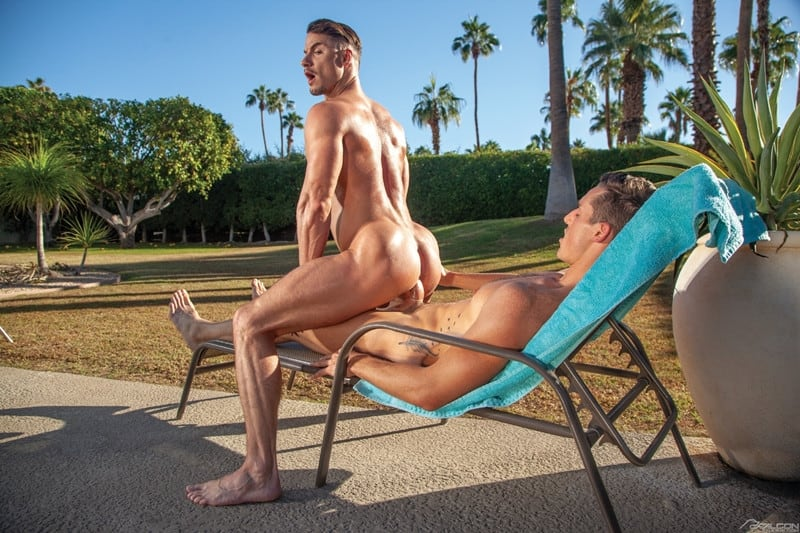 Men for Men Blog Gay-Porn-Pics-014-Steven-Lee-Skyy-Knox-huge-cock-ass-fucking-shooting-cum-muscle-stud-FalconStudios Steven Lee's huge cock fucks Skyy Knox's ass til he shooting cum out of the panting stud Falcon Studios
