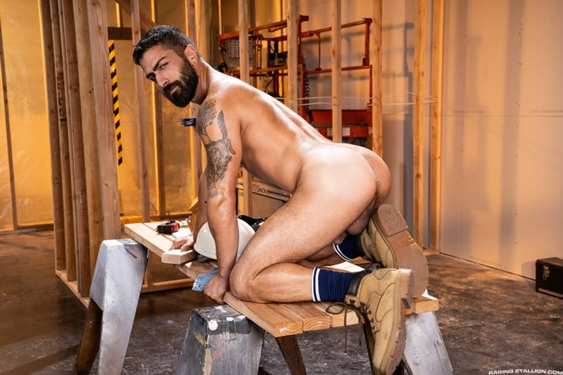 Men for Men Blog Gay-Porn-Pics-003-Adam-Ramzi-Sharok-Hairy-muscle-hunk-anal-fuck-huge-raw-cock-deep-ass-crack-RagingStallion Hairy muscle hunk Adam Ramzi slides his huge raw cock deep into Sharok's ass crack Raging Stallion