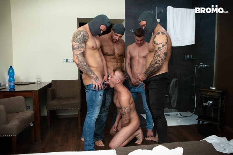 Bromo-Hot-naked-sub-dude-four-masked-men-bareback-fucking-ass-holes-002-gay-porn-pictures-gallery