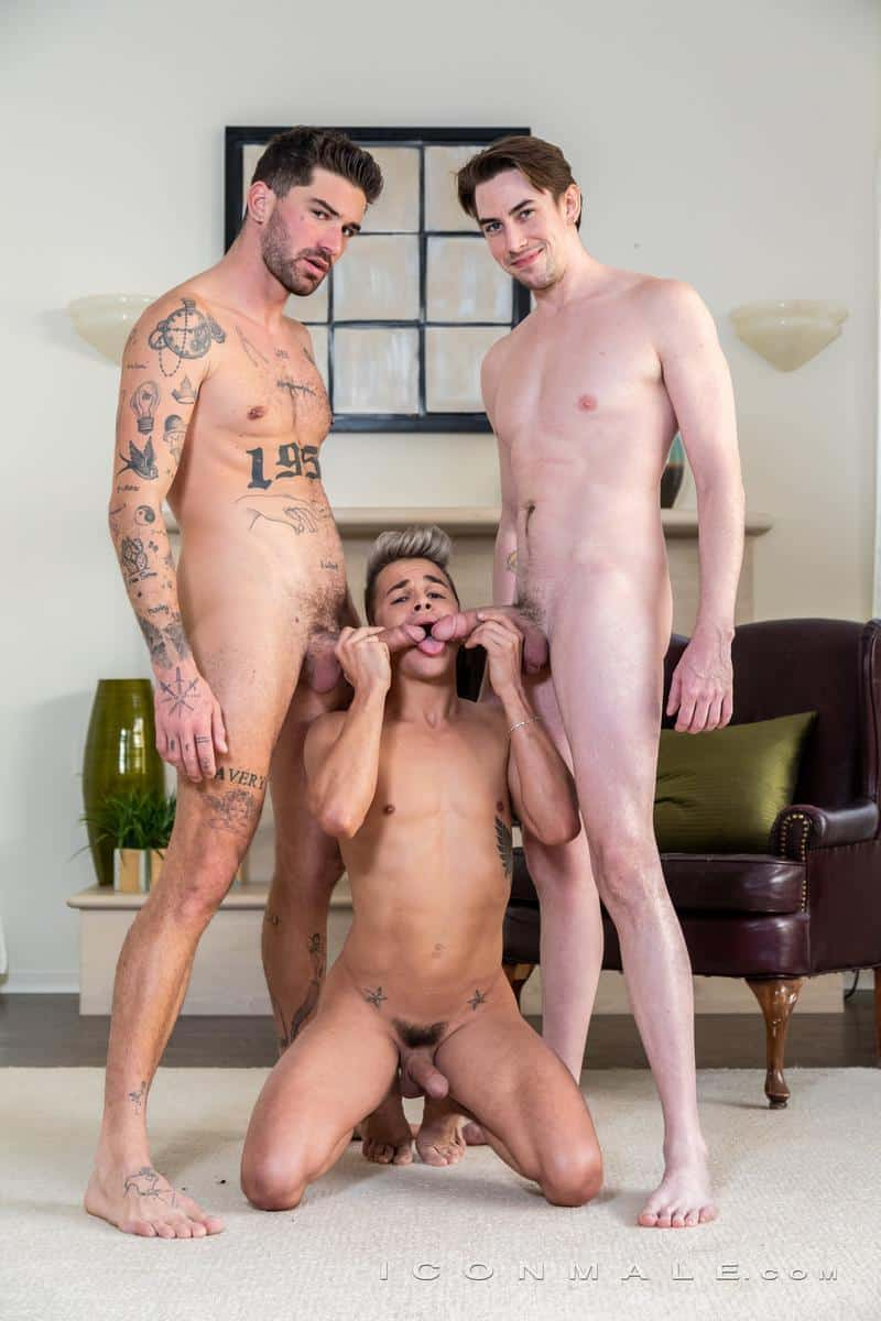 Hot gay threesome Jack Hunter spit roasts young blonde twink Andy Taylor Chris Damned 1 gay porn pics - Hot gay threesome Jack Hunter spit-roasts young blonde twink Andy Taylor with Chris Damned