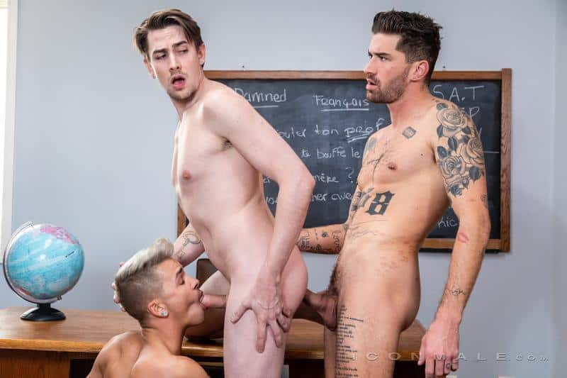 Hot gay threesome Jack Hunter spit roasts young blonde twink Andy Taylor Chris Damned 15 gay porn pics - Hot gay threesome Jack Hunter spit-roasts young blonde twink Andy Taylor with Chris Damned