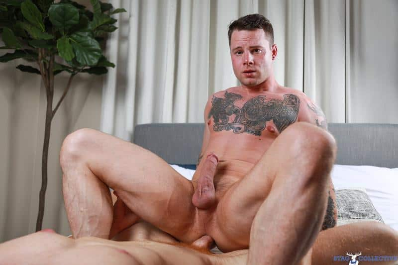 Tattooed muscle dude Tyler James tight asshole barebacked Chris White huge raw dick 12 gay porn pics - Tattooed muscle dude Tyler James's tight asshole barebacked by Chris White's huge raw dick