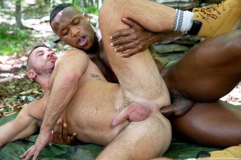 Hairy chested hunk Grant Ryan bare asshole raw fucked black stud Andre Donovan huge dick 13 gay porn pics - Hairy chested hunk Grant Ryan's bare asshole raw fucked by black stud Andre Donovan's huge dick