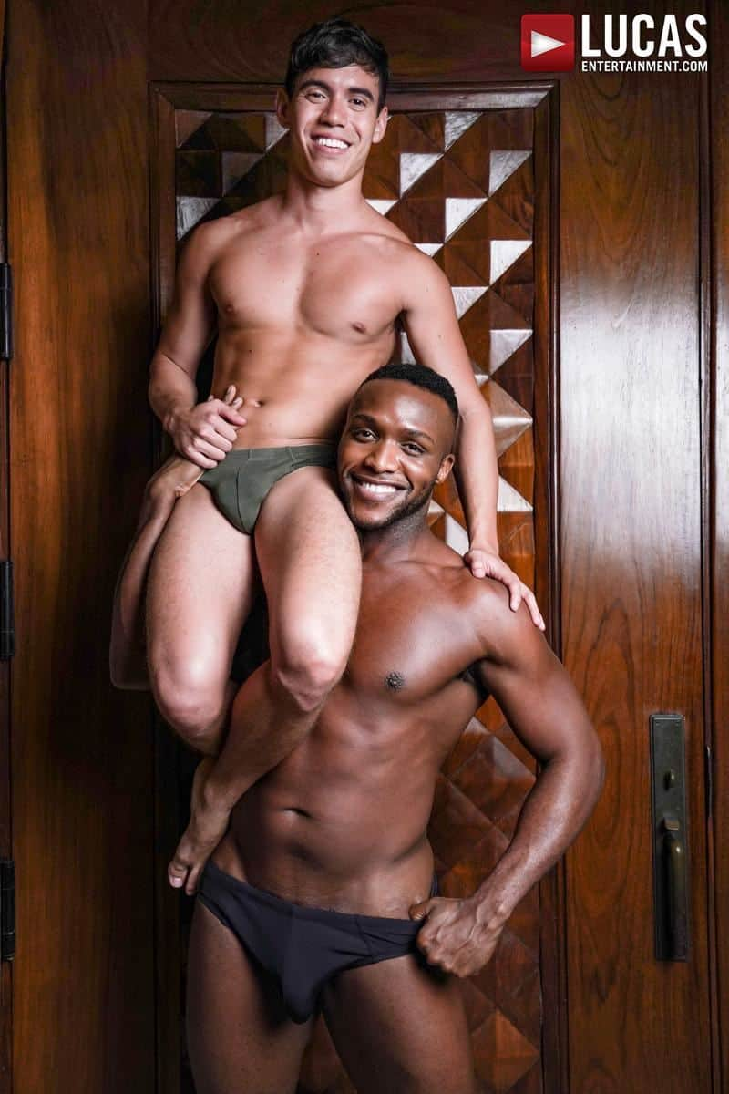 Sexy young stud Oliver Hunt hot hole bare fucked Andre Donovan huge thick black dick 3 gay porn pics - Sexy young stud Oliver Hunt's hot hole bare fucked by Andre Donovan's huge thick black dick