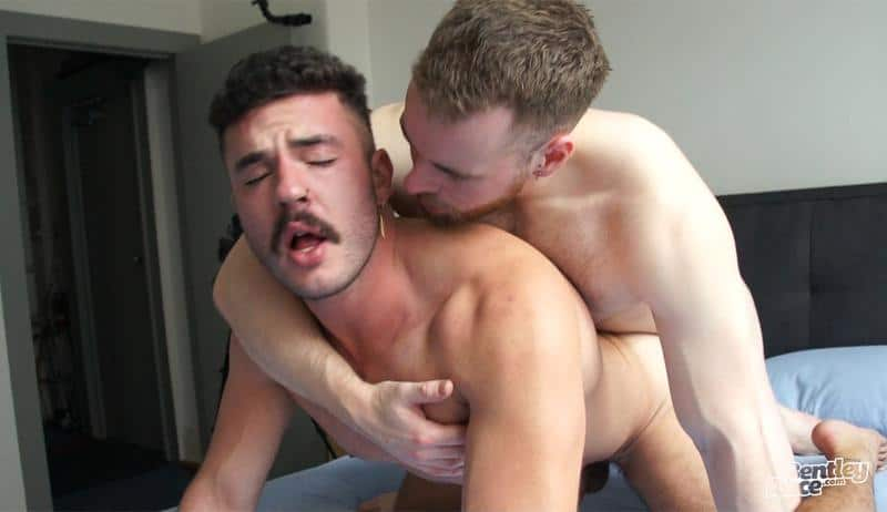 Zak Bray hot bubble ass raw fucked bearded British lad Max Miller huge uncut dick 19 gay porn pics - Zak Bray's hot bubble ass raw fucked by bearded British lad Max Miller's huge uncut dick