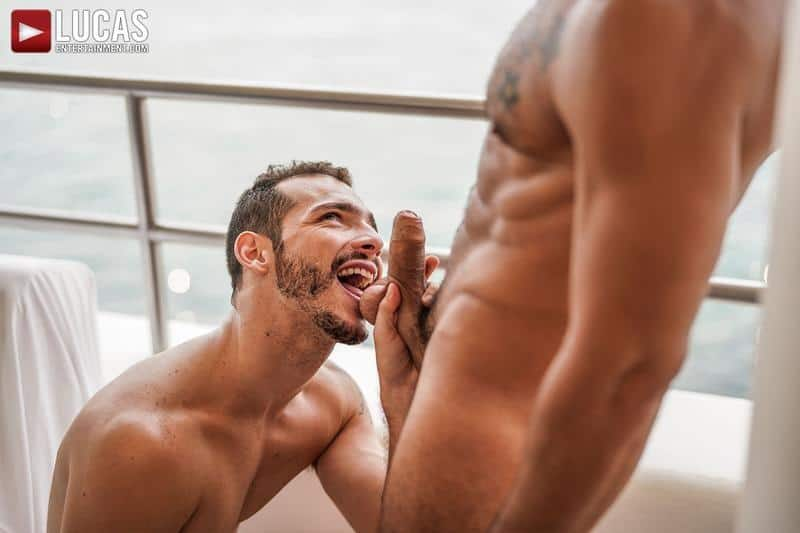 Hairy muscle hunk Rudy Gram smooth ripped muscled stud Ricky Hard flip flop bareback ass fucking 8 gay porn pics - Hairy muscle hunk Rudy Gram and smooth ripped muscled stud Ricky Hard flip flop bareback ass fucking