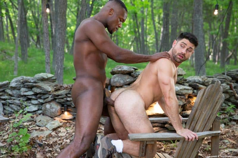 Horny muscle dude Beau Butler hairy asshole fucked Andre Donovan huge black cock 11 gay porn pics - Horny muscle dude Beau Butler's hairy asshole fucked by Andre Donovan's huge black cock
