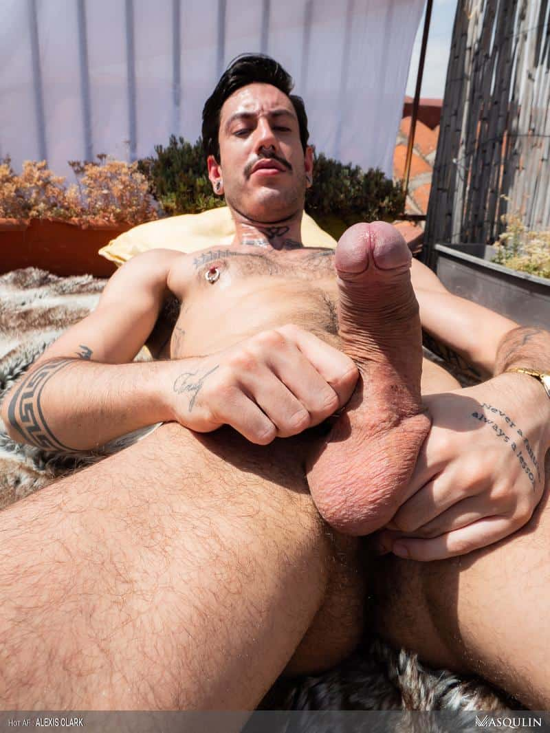 Sexy young hairy dude Alexis Clark hot asshole raw fucked a huge uncut cock up on the roof 15 gay porn pics - Sexy young hairy dude Alexis Clark hot asshole raw fucked by a huge uncut cock up on the roof